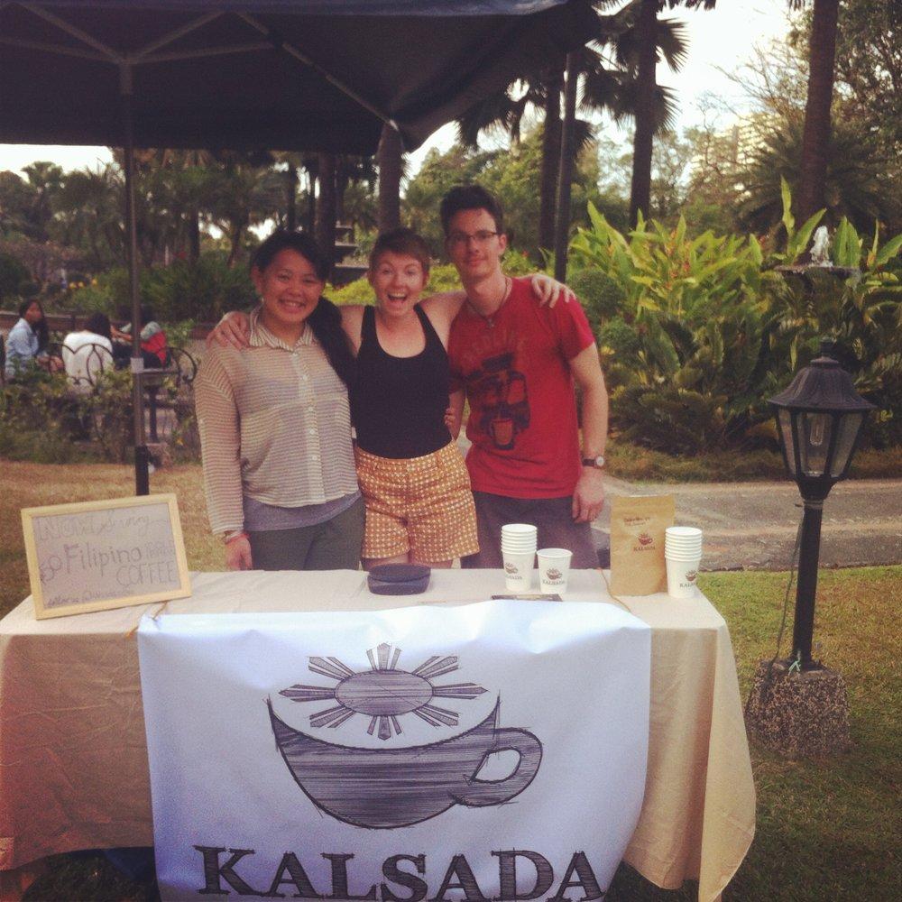Carmel, Lacy, and Rod man Kalsada's table at Manila Transitio 1945