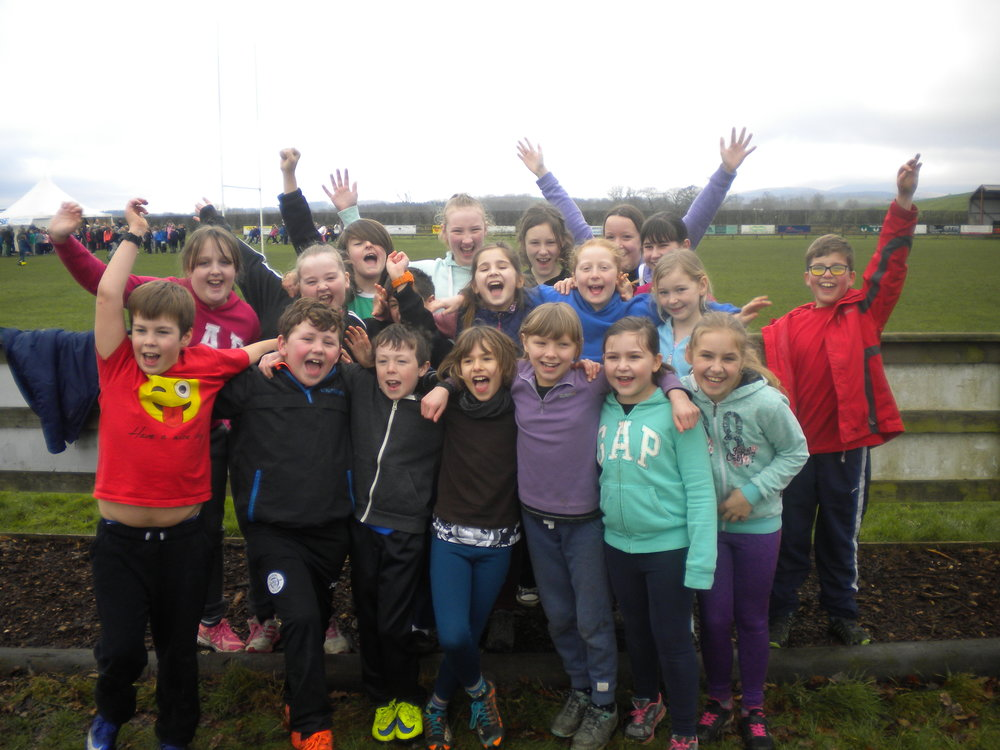 P5/7 look like they have had an enjoyable morning!