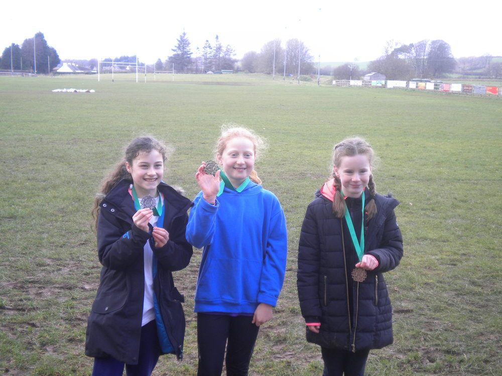 1st place to Gelston P6 girls, well done K!!