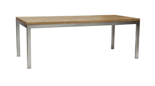 Linea Table Bois Inox Location De Mobilier Art Event Ch