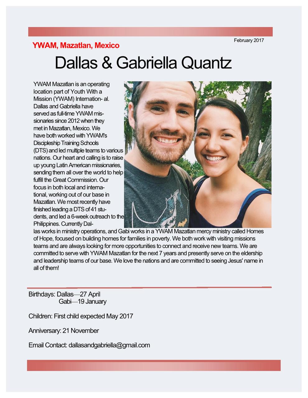 Dallas and Gabriella Quantz