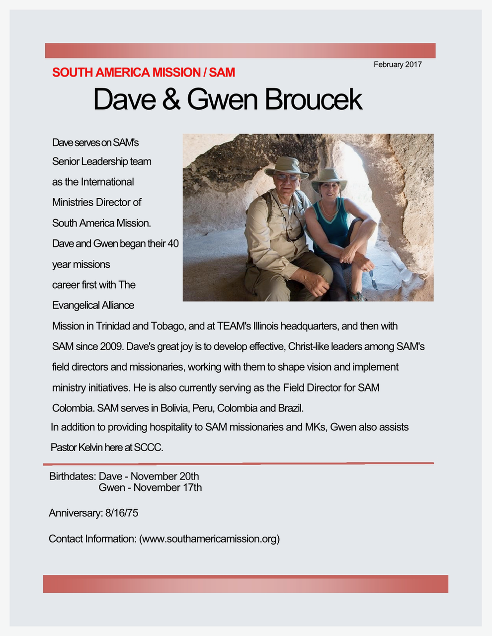 Dave and Gwen Broucek