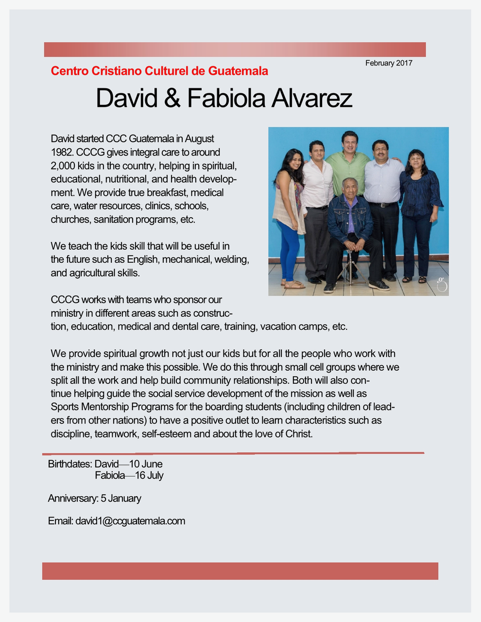 David and Fabiola Alvarez