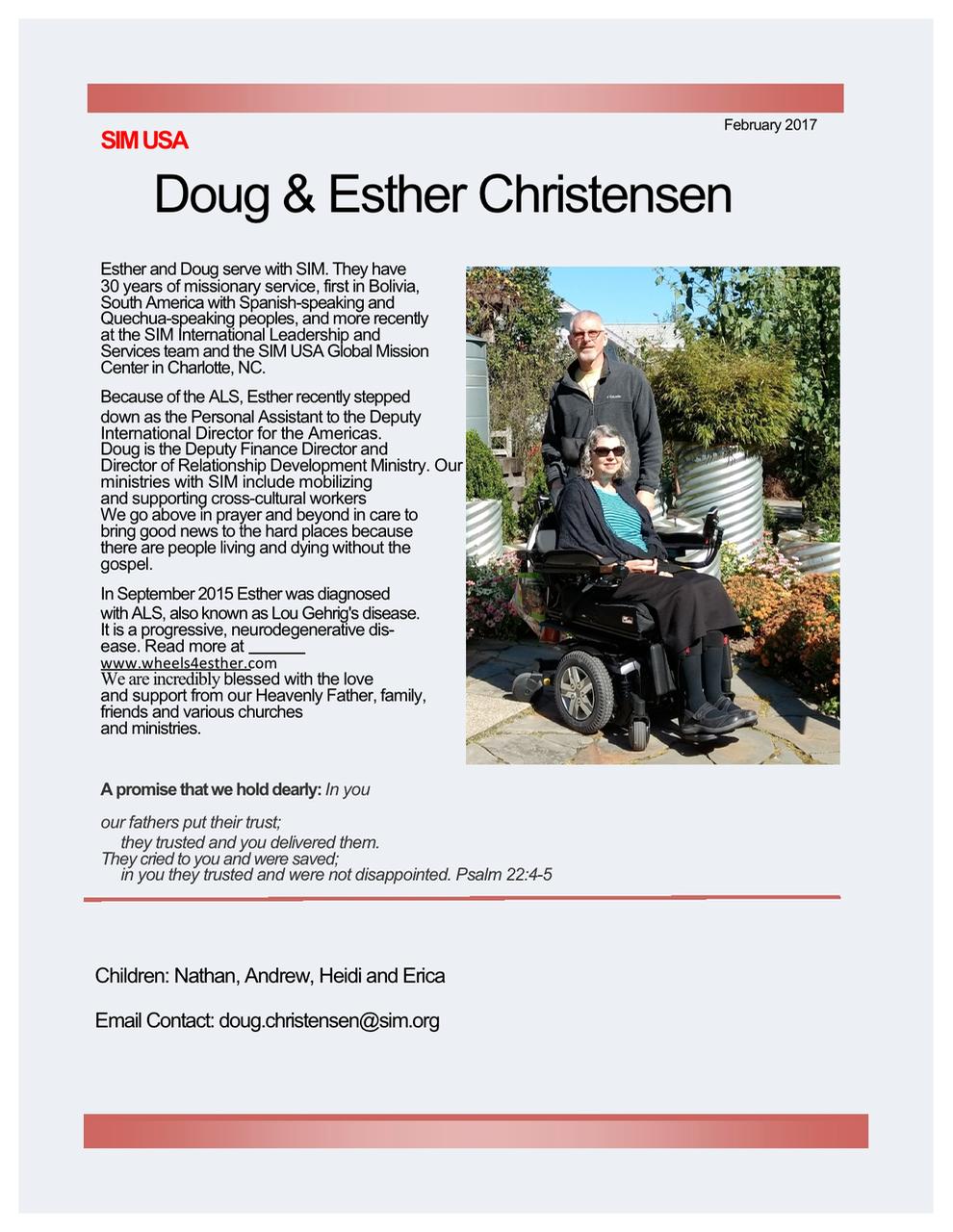 Doug and Esther Christensen
