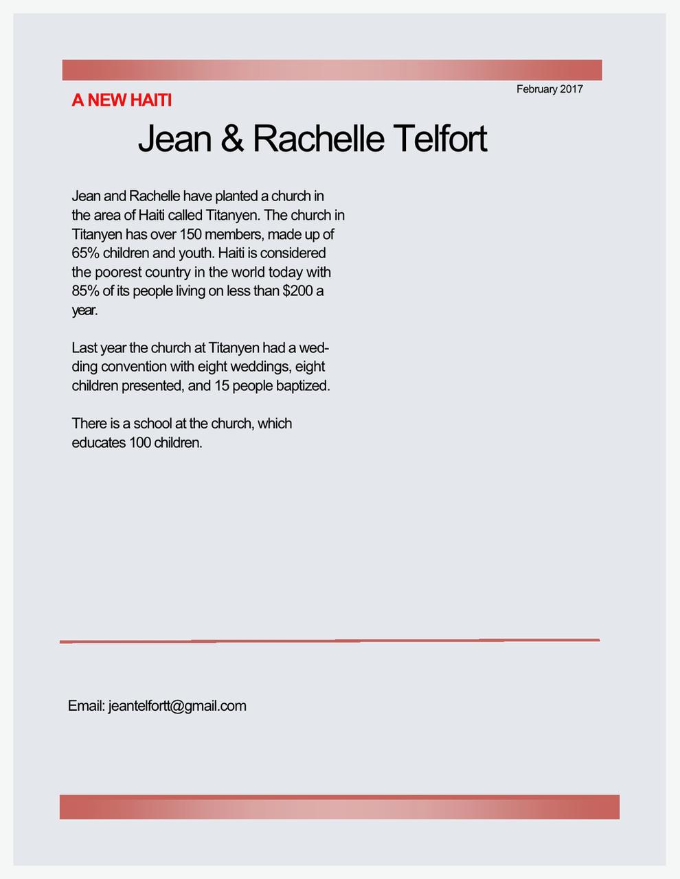 Jean and Rachelle Telfort