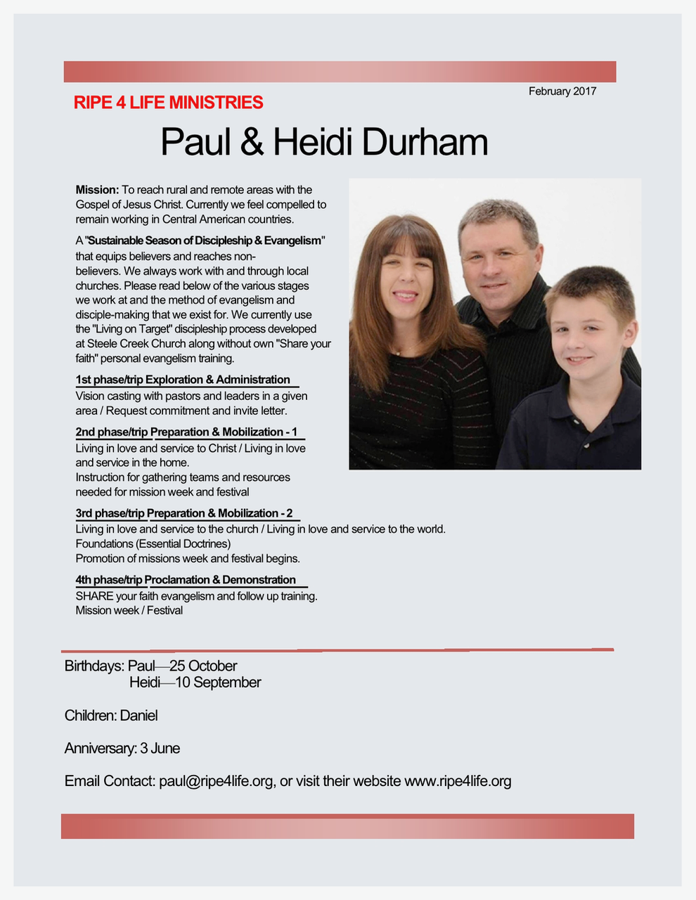 Paul and Heidi Durham