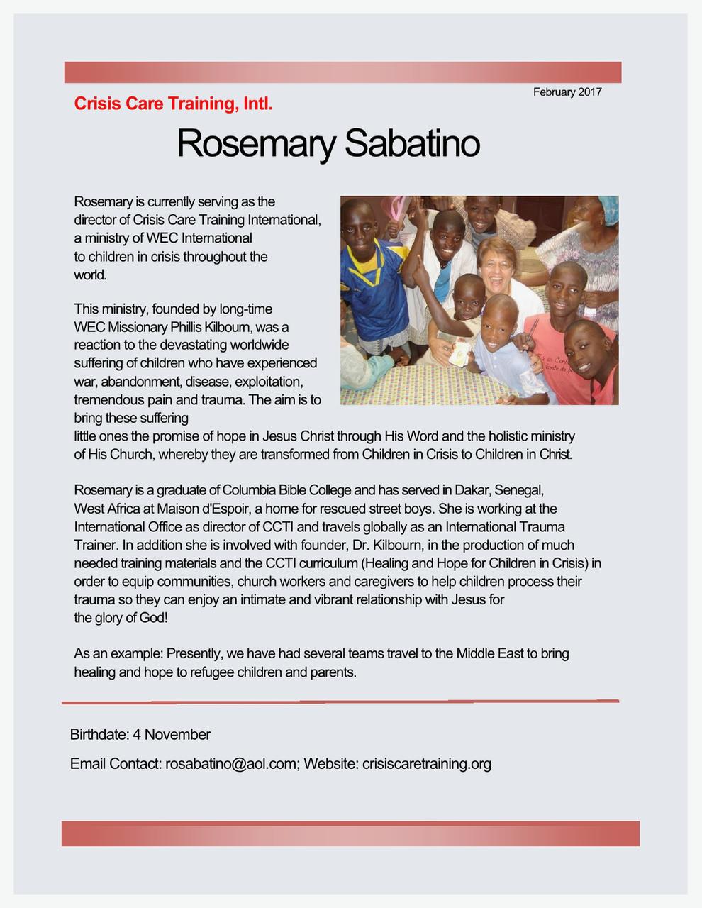 Rosemary Sabatino