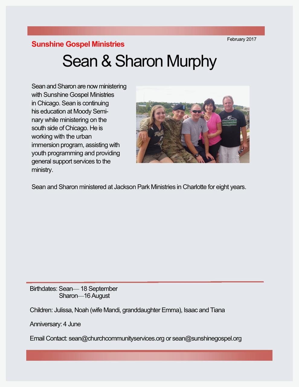 Sean and Sharon Murphy