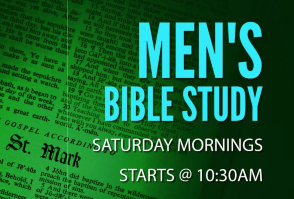 All men are welcome to come out Saturday mornings to the Berewick Campus for our Book of Romans Bible Study.