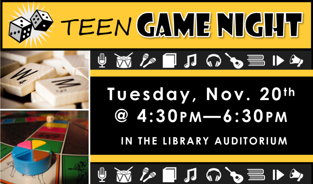 Join us for snacks and classic games, including board games & more! Feel free to bring your own games to share and play!
