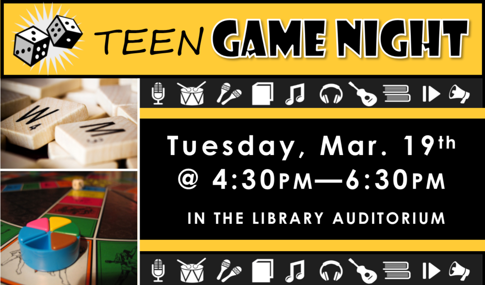 Join us for some classic gaming, including board, card, dice & more! Feel free to bring your own games to share and play!