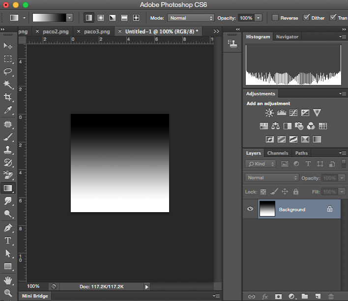 Adobe Photoshop - Gradient tool