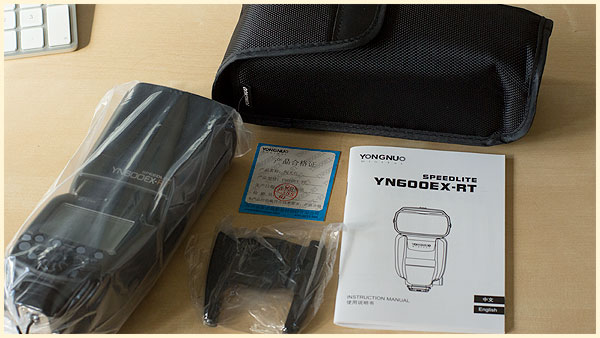 Yongnuo YN600EX-RT box contents
