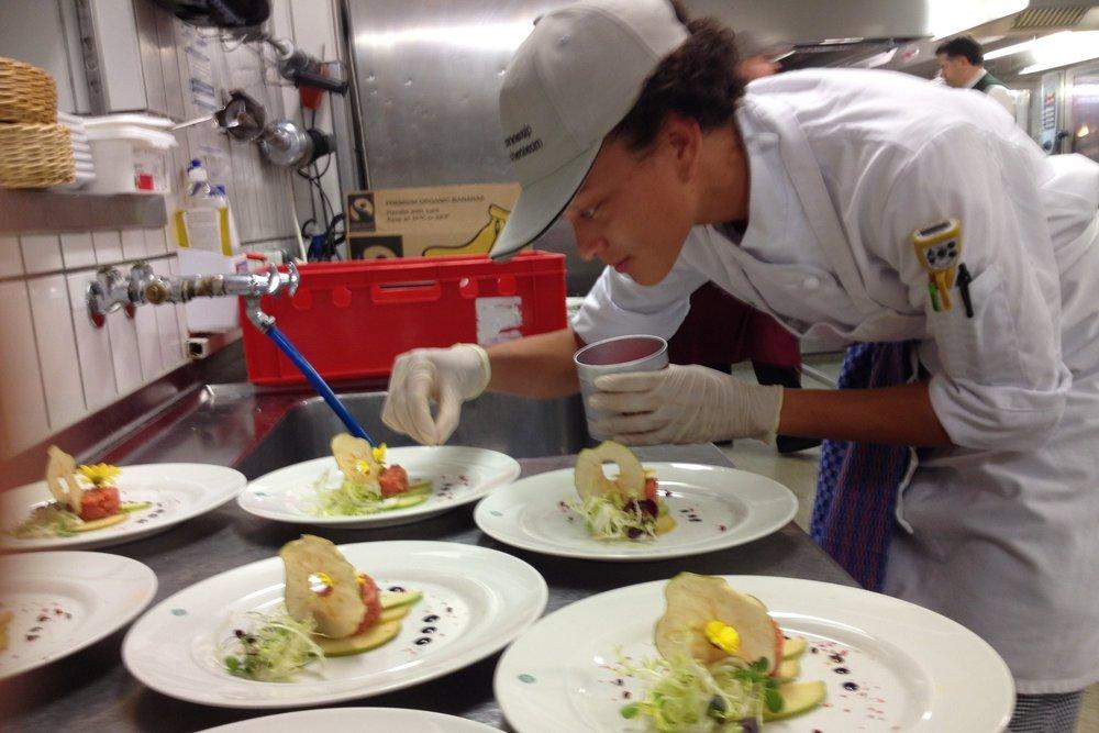 JWU student intern plates meals