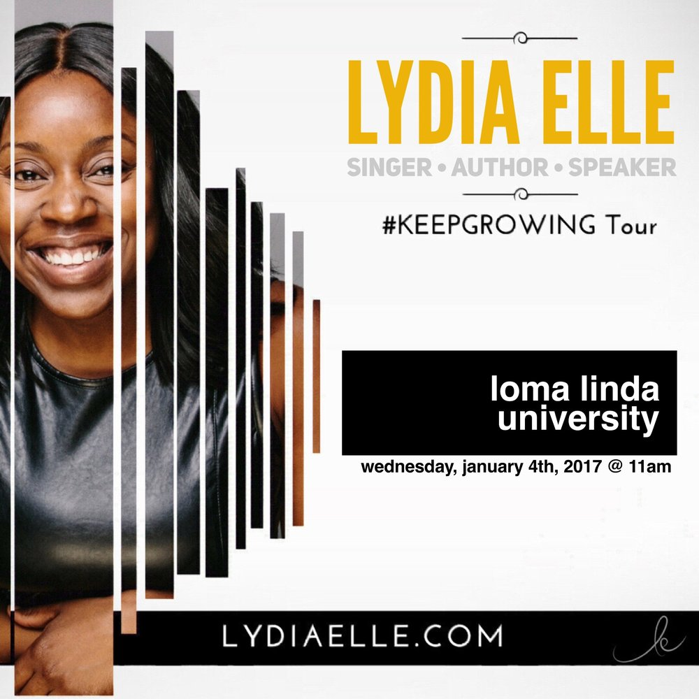 Lydia Speaks - As a guest of the prestigious, Loma Linda University, Lydia was called to share her story with the faculty and student body.See her full presentation or have Lydia speak for your conference or corporate event.