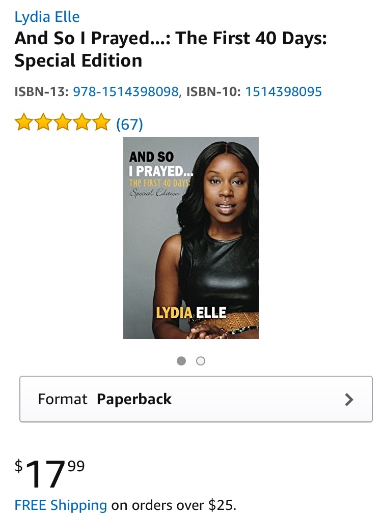 And So I Prayed, The First 40 days - If you haven't read Lydia's book, 'And So I Prayed,' be sure to pick up a copy in the Londelle shop or check it out on Amazon.  So many people have been blessed by her words and her message.Get the book now.