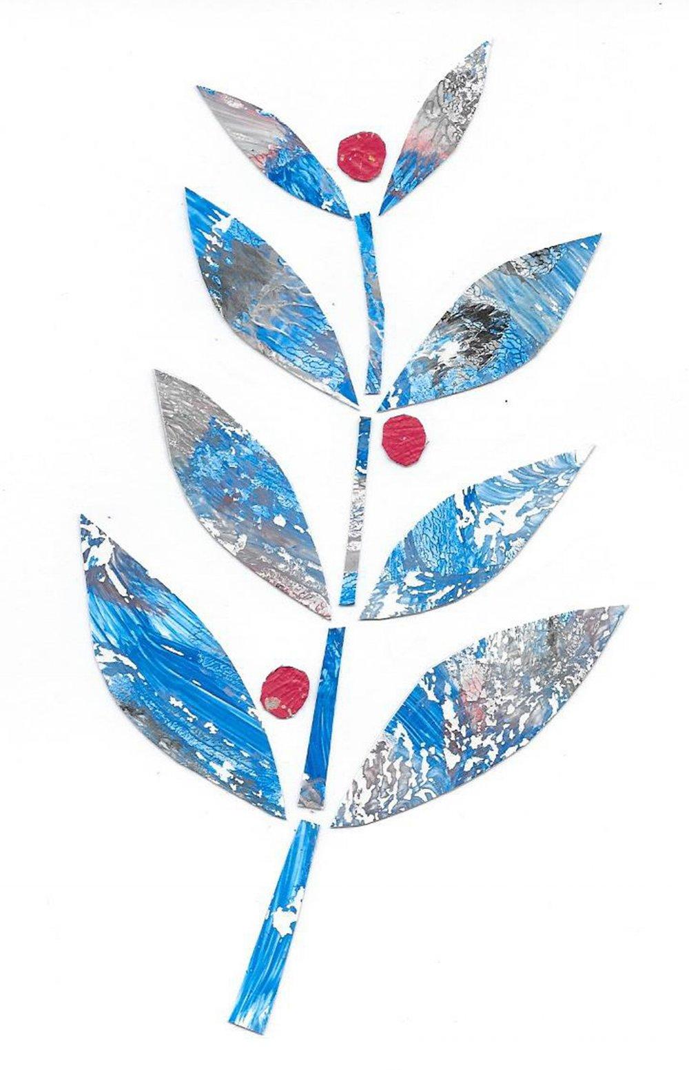 Blue leaves0009