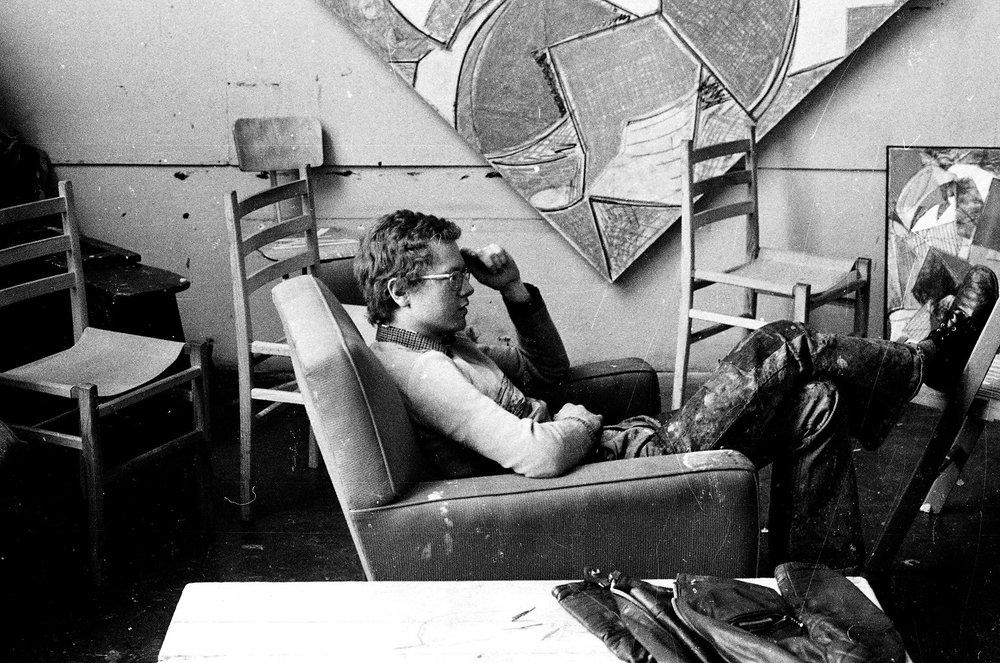 David during his studies at Royal College of Art.