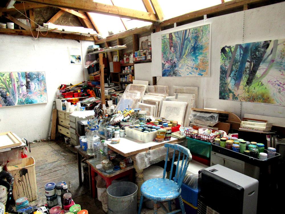 Inside David's studio.