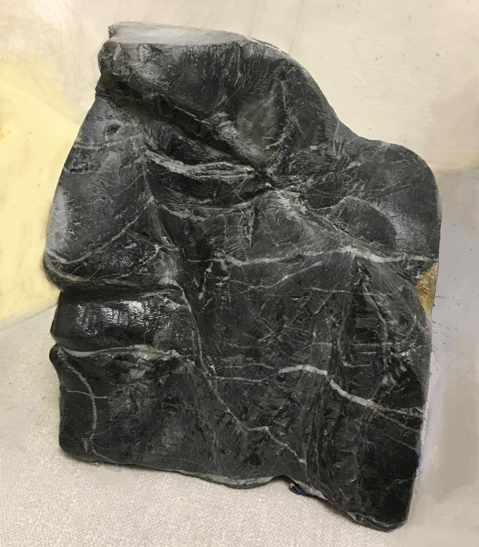 Black marble head 1