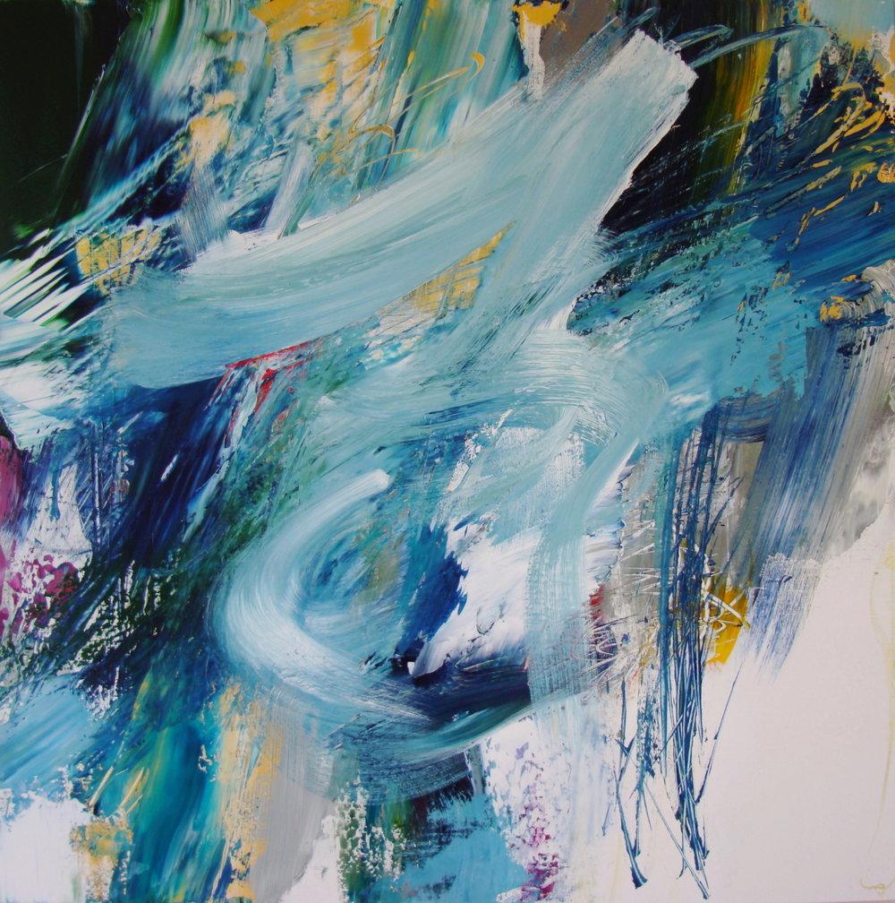 Tracy Burgess - FLUX - 100 x 100 cm - (2016) Acrylic on Linen