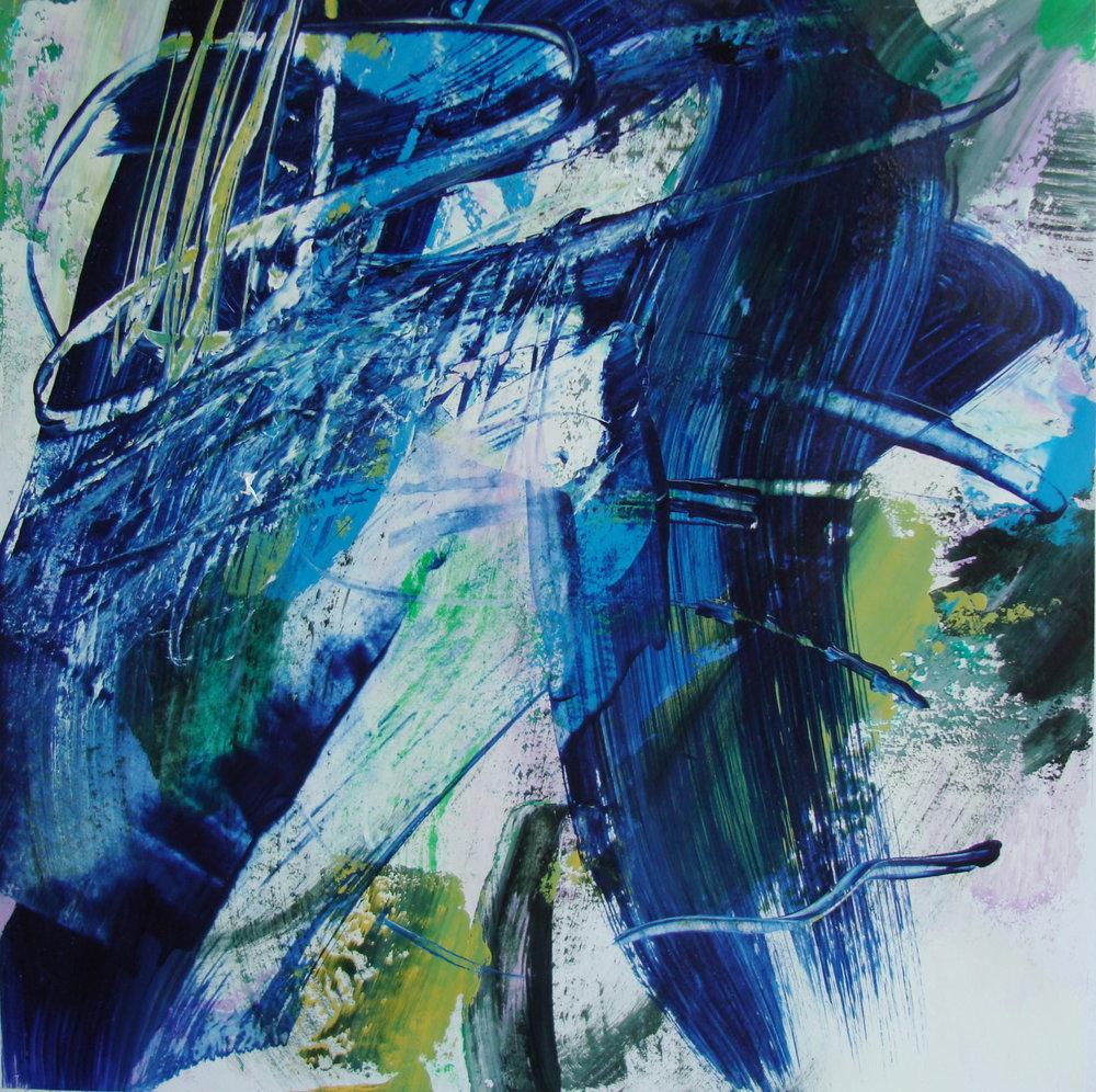 Tracy Burgess - TAO - 40 x 40 cm - (2017) Acrylic on Paper