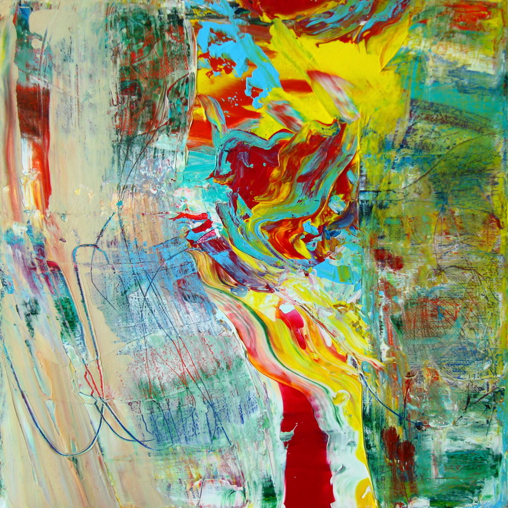 Tracy Burgess -MOMENT TO MOMENT - Acrylic on Linen
