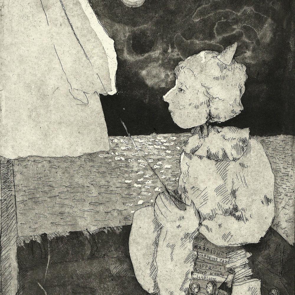 'Nightboat' Etching (Detail)