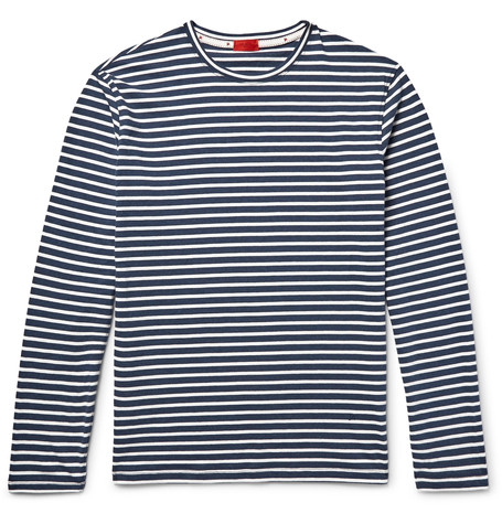 ISAIA   Stripped Cotton-Jersey T-Shirt  £145