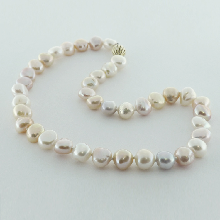<b>Soft Multicolour</b><br>$715<br>Baroque Multicolour<Br> Fresh Water Pearls<Br>11-12mm