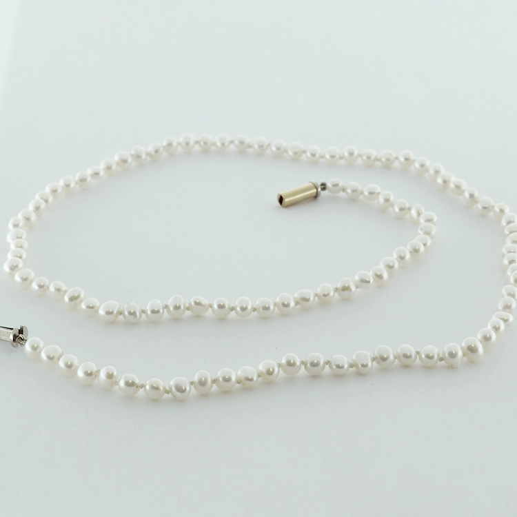 <b>Biwa Pearl Necklace</b><Br>reg.RT: $1,700/Special; $ 1,360<br>Genuine Japanese Biwa Pearls<br>Handcrafted Barrel Clasp