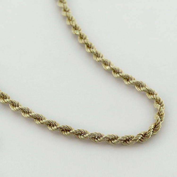 <B>Rope Chain</B><BR> reg.RT: $1,506/ Special; $1,055<BR> 18K Yellow Gold<br>24 inches long