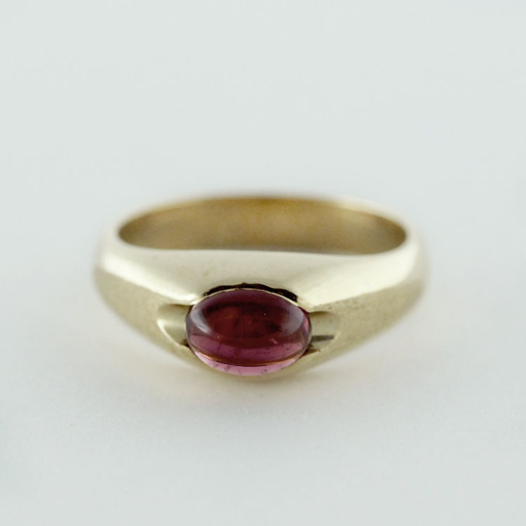 $1,069<Br>14K Yellow Gold,<br>Oval Pink Tourmaline