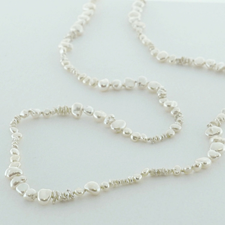 "<b>Japanese Biwa</b><Br>$1,928<Br>Japanese Fresh <br>Water Pearls ""Biwa"""