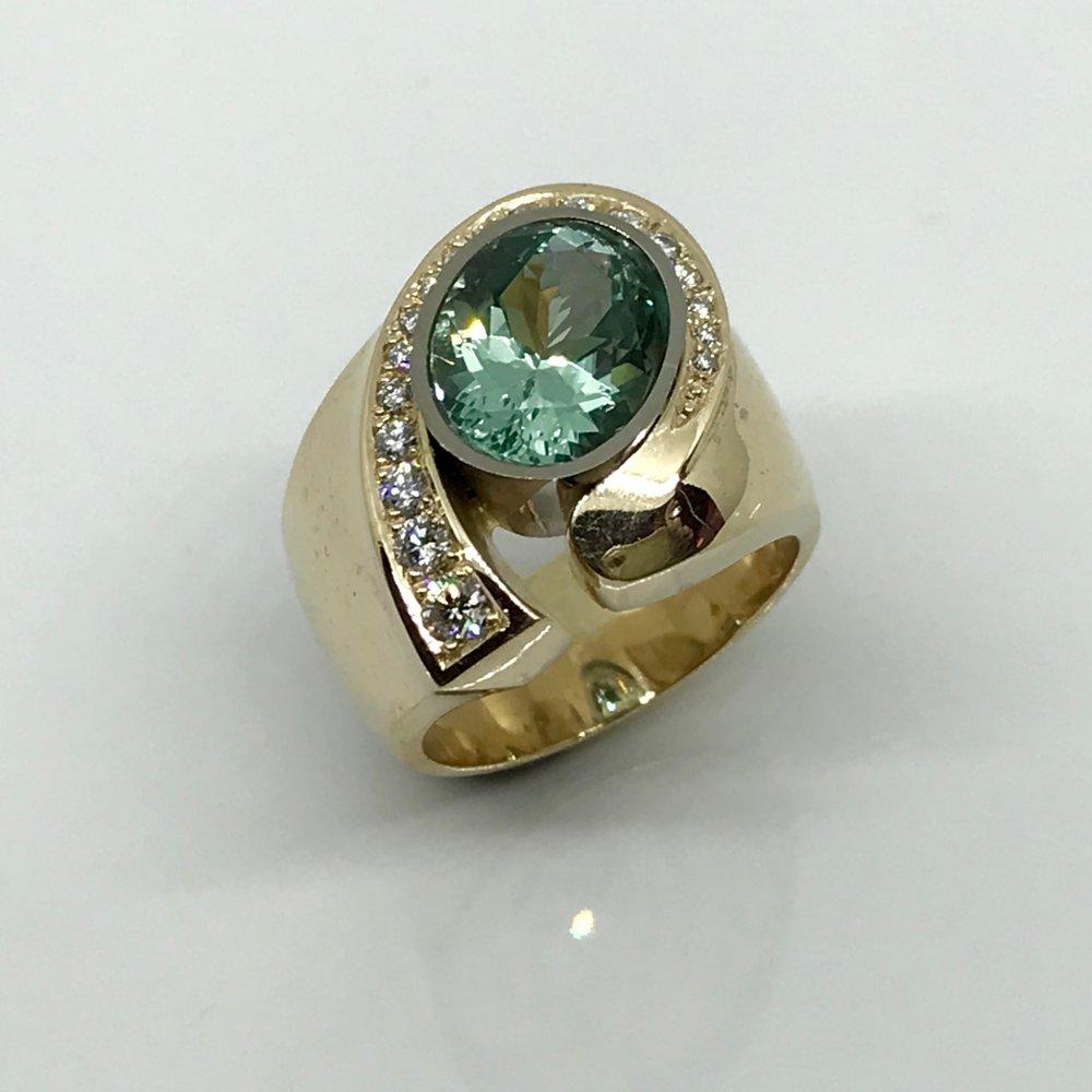 NEW CREATION   Tourmaline & Diamond Ring