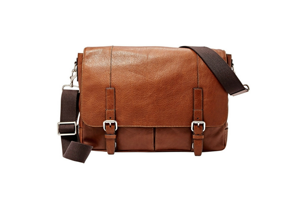 Fossil Graham EW Messenger in Cognac
