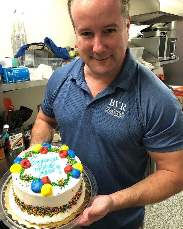 Celebrating Matt's birthday during tonight's Sunset Social! #employeeoftheyear #sunsetsocial #bvr #friday #weekend