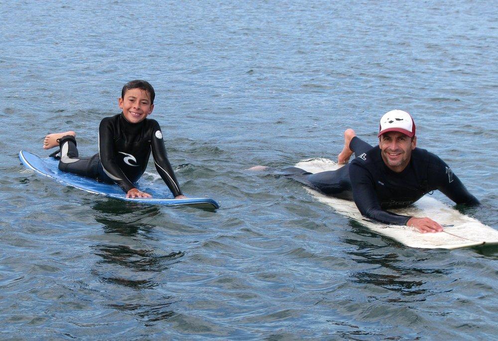 Dave and his son enjoying the beautiful Santa Barbara beaches