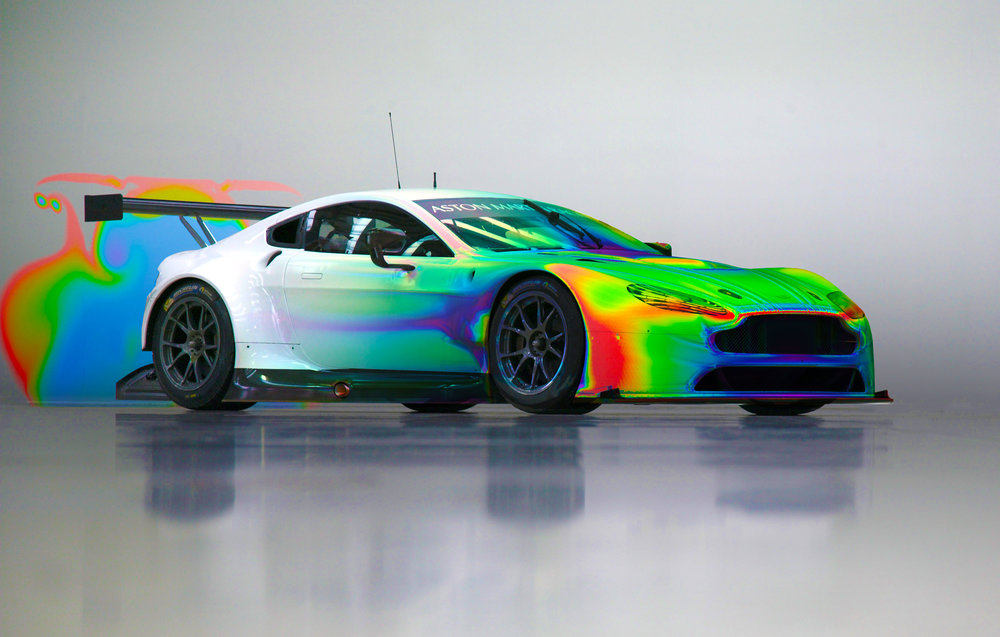 Aston Martin Race Car CFD Airflow