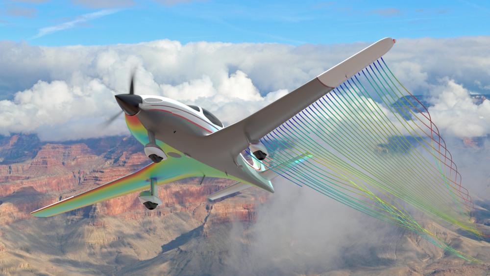 Prop plane streamlines