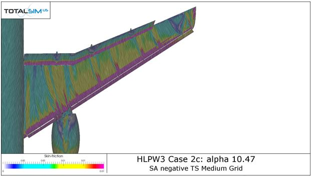 FUN3D run for JAXA Wing at 10.47 degrees -
