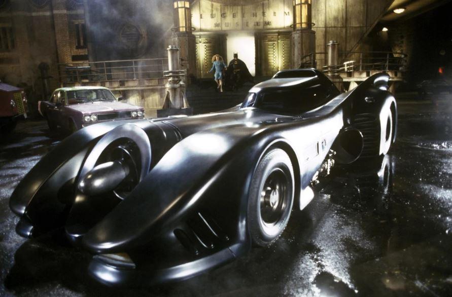 Batmobile parked outside Flugelheim Museum in  Batman  (1989) [1]