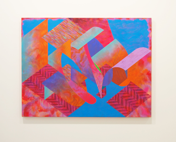 NICHOLE VAN BEEK: Make Love, Acrylic and fiber paste on dyed canvas, 30 x 40 inches, 2015