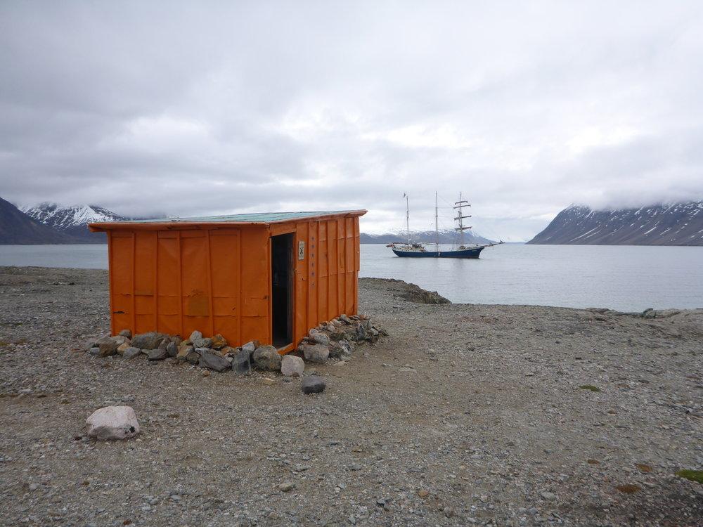 Regnardneset, Lloyds Hotel,Svalbard, Norway July 16, 2016 , Atlantis, Arctic Circle Artists In residence ship