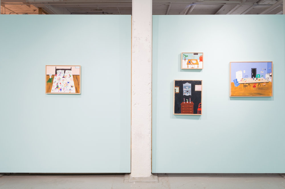 Polly Shindler: Retreat Exhibition View