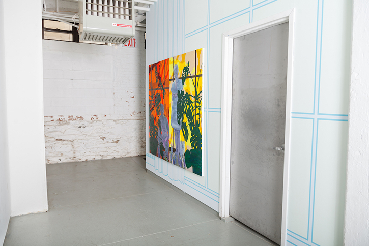 OyG's The Skirt, SIte Specific Projects Space during  Windows, Curtains, Wall, Painting   George Rush, September – December 2015