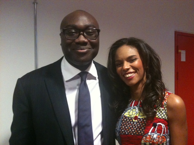 Noëlla pictured with Komla Dumor