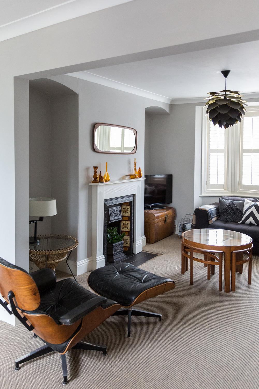 Design classics in a living room