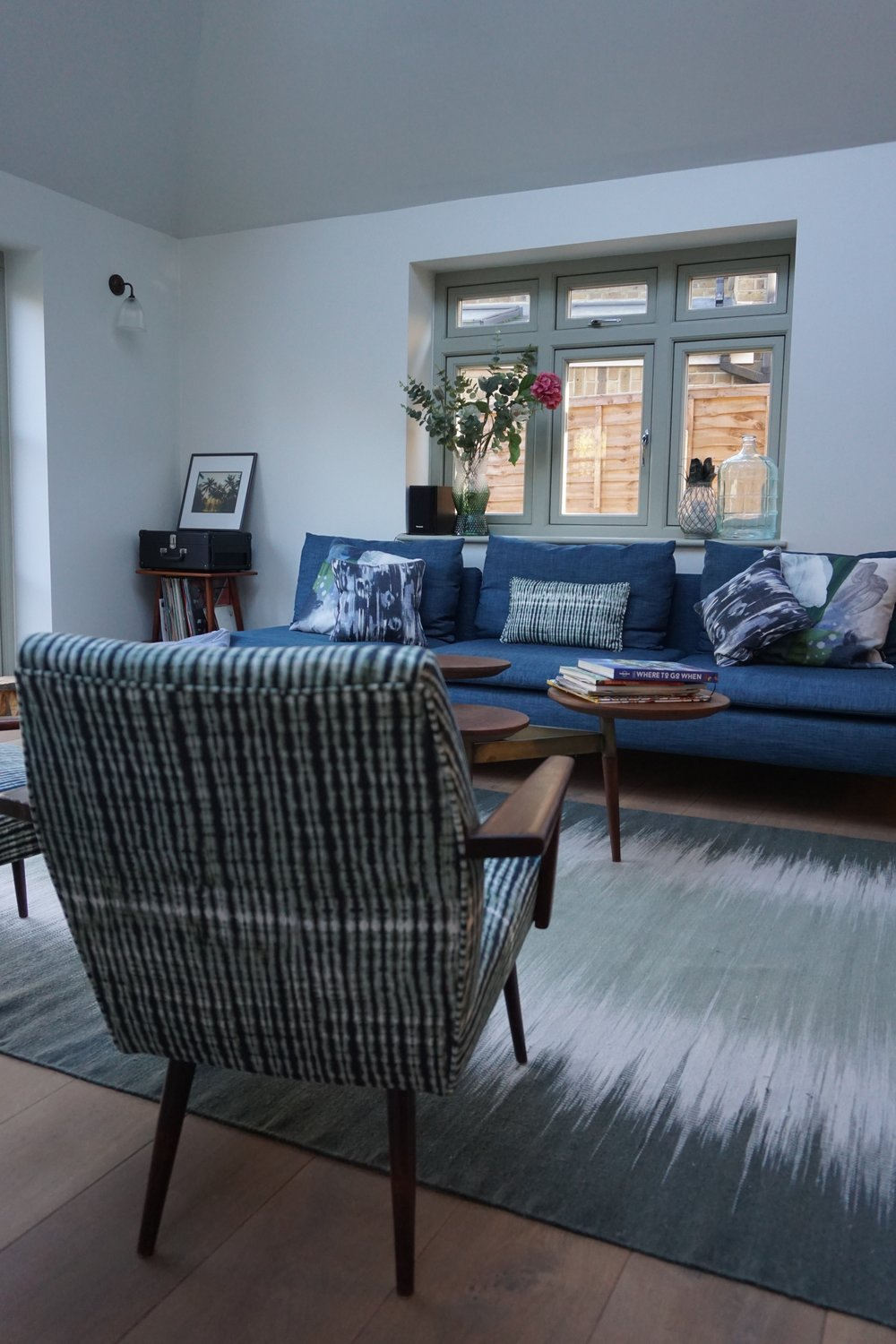 Midcentury inspired family space