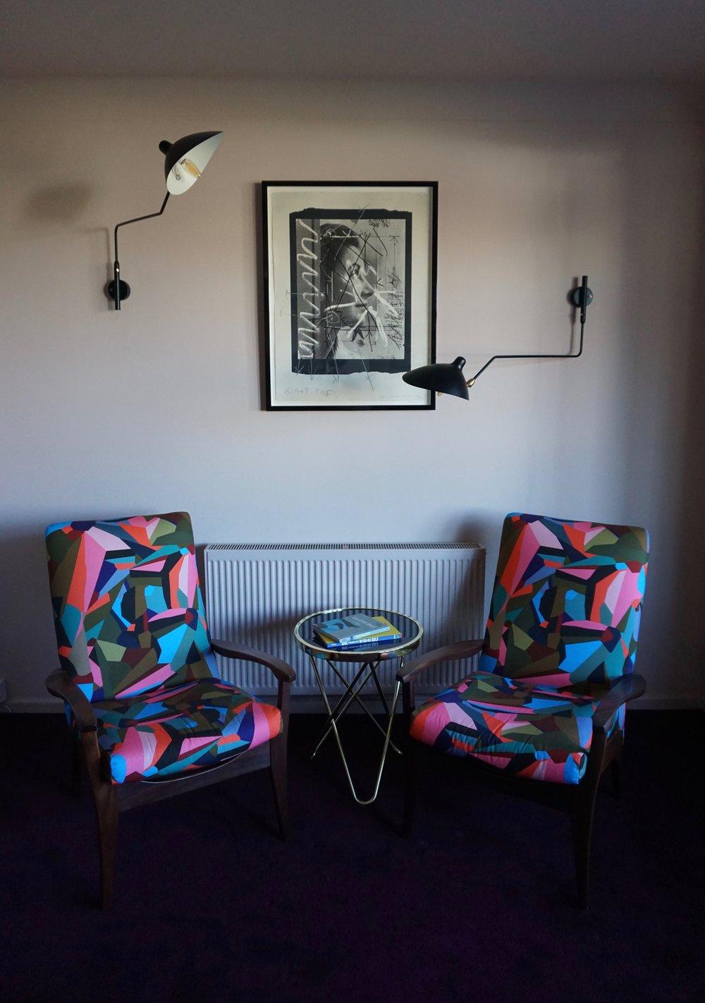 Midcentury teak armchairs